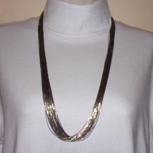 Liquid Silver Necklace 29 Strands Sterling #1874